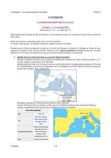 La romanisation de la Gaule - cours d'histoire romaine pour les élèves de 6ème