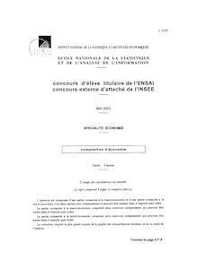 ENSAI composition d economie 2003 eco composition d
