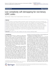 Low complexity soft demapping for non-binary LDPC codes