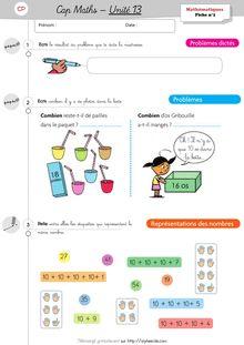 Mathématiques CP / CE1 – Cap Maths, période 5 (unités 11 à 15) - Unité 13 – CP Unité 13 Exercices