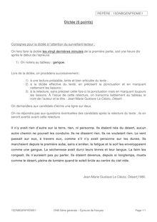 Brevet 2015 : Dictée de français