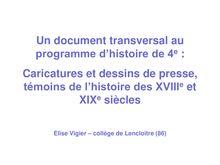 Caricatures et dessins de presse, témoins de l'histoire au XVIII et XIXe siècles - cours d'histoire 4e