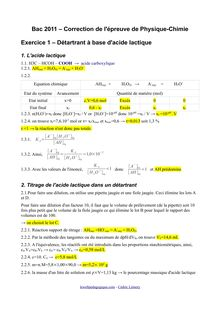Bac 2011 S Physique Chimie Corrige