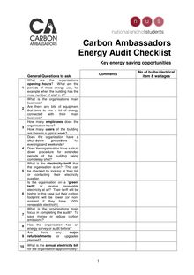 20091020 General Audit Checklist FINAL