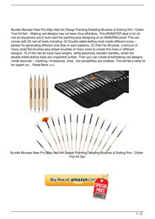 Bundle Monster New Pro 20pc Nail Art Design Painting Detailing Brushes amp Dotting Pen Dotter Tool Kit Set Beauty Reviews