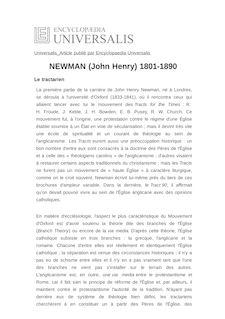 NEWMAN (John Henry) 1801-1890 -