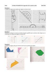 Fiche d'exercices sur la symétrie axiale