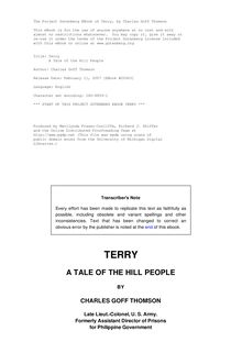 Terry - A Tale of the Hill People