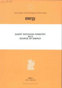 Short rotation forestry as a source of energy