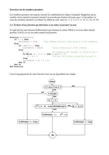 Exercices sur les nombres premiers