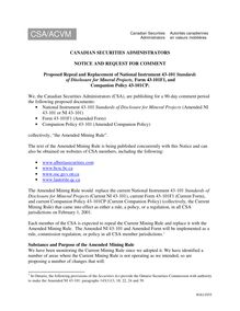 #1611935 v1 - CSA Notice requesting comment on proposed NI…