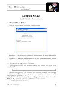 TP informatique, Probabilités TP n°1 : Calculs, variables, nombres aléatoires