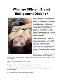 What are Different Breast Enlargement Options?
