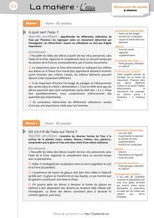 DDM CP/CE1 – L'eau - Ma séquence Séquence Leau_Prep