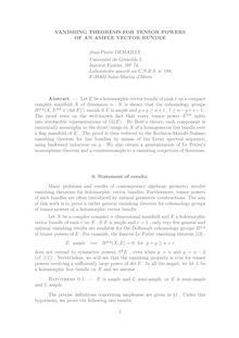 VANISHING THEOREMS FOR TENSOR POWERS OF AN AMPLE VECTOR BUNDLE