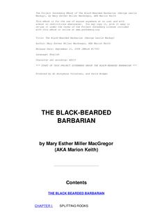The Black-Bearded Barbarian : The life of George Leslie Mackay of Formosa
