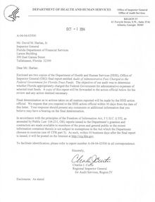 Audit of Administrative Fees Charged to the Federal Government for Florida Trust Funds, A-04-04-03500