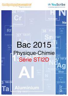 Corrigé - bac 2015 - Physique-Chimie - STI2D