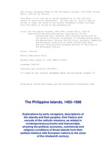 The Philippine Islands, 1493-1898 — Volume 23 of 55 - 1629-30 - Explorations by early navigators, descriptions of the islands and their peoples, their history and records of the catholic missions, as related in contemporaneous books and manuscripts, showing the political, economic, commercial and religious conditions of those islands from their earliest relations with European nations to the close of the nineteenth century.
