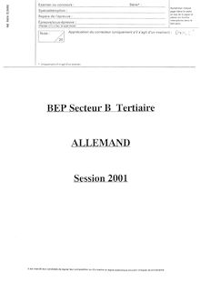 BEP distribution allemand  2001 dcea