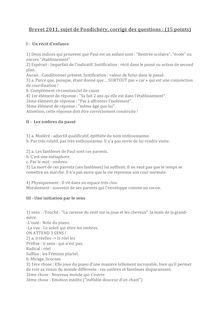 Brevet 2011 Pondichery Francais Corrige
