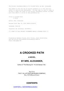 A Crooked Path - A Novel