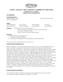 Sept 12th Audit Budget  Finance Committee Meeting Document…