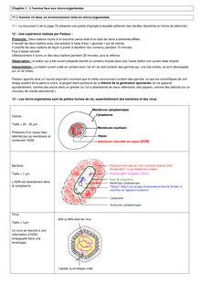 Cours de SVT 3e : L'homme face aux micro-organismes