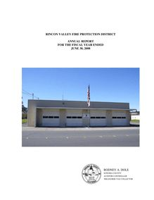 Audit Report Rincon Valley Fire Protection District 2008