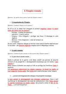 Révisions de l'empire romain - cours d'histoire romaine niveau 6eme