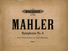 Partition Color covers, Symphony No.5, Mahler, Gustav par Gustav Mahler