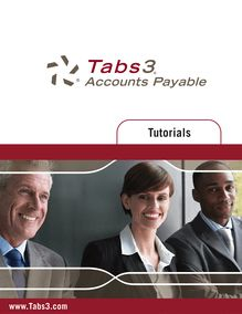 Tabs3 Accounts Payable Software Tutorial Version 15.2
