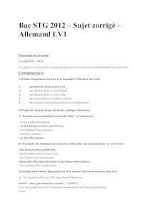 Bac 2012 STG ST2S STI STL Allemand LV1 Corrige