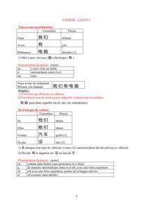 Cours de chinois : la possession - apprendre le chinois