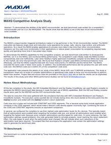 MAXQ Competitive Analysis Study - AN3593