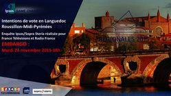 Elections régionales 2015 - Intentions de vote Languedoc Roussillon - Midi-Pyrénées
