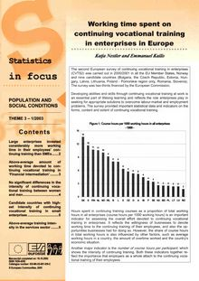 Working time spent on continuing vocational training in enterprises in Europe