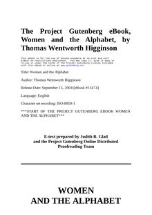 Women and the Alphabet - A Series of Essays