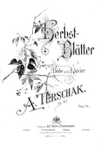 Partition de piano, Herbstblätter, Op.187, Terschak, Adolf