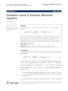 Oscillation criteria of fractional differential equations