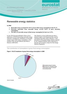 Renewable energy statistics in 2008.