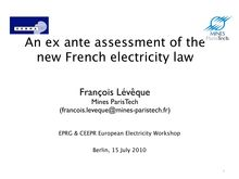 An ex ante assessment of the new French electricity law
