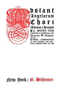 Partition Cover Pages (color), Adstant Angelorum Chori, Motet for Unaccompanied Chorus
