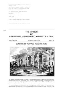 The Mirror of Literature, Amusement, and Instruction - Volume 13, No. 375, June 13, 1829