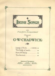 Partition couverture couleur, Four Irish chansons, F.222, Chadwick, George Whitefield