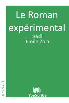 Le Roman expérimental de Émile Zola - fiche descriptive