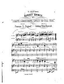 Partition , I Have Something Sweet to Tell You, Sunset Chimes, 12 Songs for Voice with Piano or Organ
