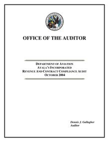 Audit Report Template With Exhibits