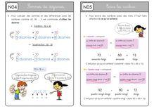 Mathématiques CE1 – Organisation des séances, exercices et leçons : Périodes 1 et 2 - Unité 3 Leçons