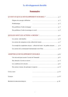 Cours sur le développement durable - cours géographie 5eme